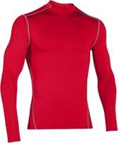Ondershirt ColdGear Armour Mock Longsleeve Red