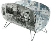 Lectuurbak / Tijdschriftenbak - Krantenprint