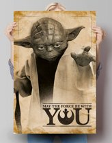 REINDERS Star Wars - yoda may the force be with you - Poster - 61x91,5cm