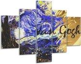 Glasschilderij Klassiek | Blauw, Geel, Zwart | 100x70cm 5Luik | Foto print op Glas |  F004845