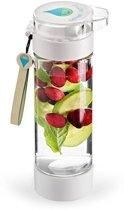 O'DADDY drinkfles met fruitfilter - fruit infuser met vriesbare bodem en sportdop - waterfles BPA vrij en vaatwasser bestendig - 350ml