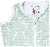 Lodger Baby slaapzak - Hopper Scandinavian - Groen - Mouwloos - 68/80