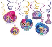 6 Swirl Decorations Shimmer & Shine