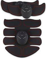 Elektrische 3 Delige EMS Sixpack & Spierstimulator Six Pack - EMS Spiertrainer - Armen en Buik - Rood