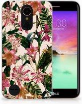 LG K10 2017 Uniek TPU Hoesje Flowers