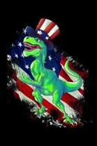 Funny t-rex dinosaur with uncle sam hat journal: T-rex dinosaur, usa flag, america and animals fan design 120 Page composition Blank Notebook colleg r