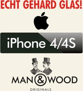 Man & Wood Screenprotector / Schermbescherming ECHT GEHARD GLAS (Tempered Glass) - iPhone 4/4S