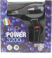ETI TOP POWER 3200 ION, Föhn Zwart AC motor 2000 Watt