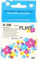 FLWR - Inktcartridge / 348 / Foto Kleur - Geschikt voor HP