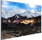 Leh Ladakh stad vlakbij Himalaya Aluminium 60x40 cm - Foto print op Aluminium (metaal wanddecoratie)