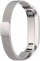KELERINO. Milanees bandje voor Fitbit Alta Magneetsluiting - Zilver