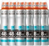 L'Oréal Paris Men Expert Fresh Extreme Deodorant - 6 x 150 ml - Spray - Voordeelverpakking