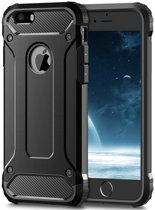 Luxe Extra Stevige Armor Hoesje voor Apple iPhone 7 - iPhone 8 - Shockproof Case - Cover zwart
