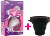 DivaCup Type 1 Herbruikbare Menstruatiecup met Magnetronsterilisator