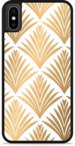 iPhone Xs Hardcase hoesje Art Deco Gold