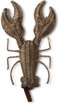 Riviera Maison Rustic Rattan Lobster - 23x35 Cm - Bruin