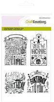 CraftEmotions stempel A6 - new home handlettering Engels