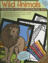 Wild Animals Stained Glass Coloring Kit