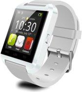 Smartwatch Uwatch U8 - Wit met siliconen band