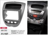 2-DIN TOYOTA Aygo 2005-2014 / PEUGEOT (107) 2005-2014 / CITROEN C1 2005-2014 inbouwpaneel frame installatie