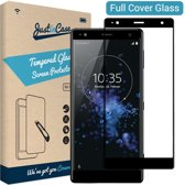 Just in Case Full Cover Tempered Glass Sony Xperia XZ2 Compact Protector - zwart