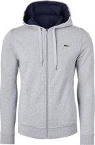 Lacoste heren sweatshirt - lichtgrijs vest (hoody met rits) -  Maat XXL