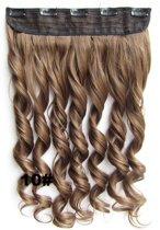 Clip in hairextensions 1 baan wavy bruin - 10#