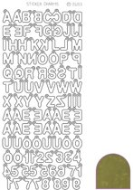 Sticker Charm ABC - Mirror Goud
