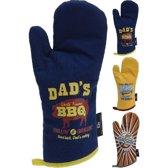 Barbecue Handschoen/Ovenwant BBQ Design Assorti