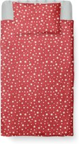 Dekbedovertrek Peuter - Katoen - 120 x 150 - Rood - Little Star Red  incl. Kussensloop