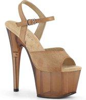 Pleaser Sandaal met enkelband -38 Shoes- ADORE-709T Bruin
