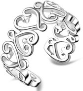 Verstelbare- Verzilverd- ring
