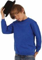 Kobaltblauwe katoenmix sweater voor jongens 12-13 jaar (152/164)