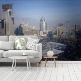 Fotobehang vinyl - Het grijze centrum van Anshan in China breedte 350 cm x hoogte 260 cm - Foto print op behang (in 7 formaten beschikbaar)