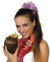 24 stuks: Kokosnoot drinkbeker met rietje - 400ml
