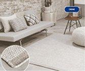 Wollen Vloerkleed - Industrieel Scandinavisch Design - Modern Vloer Tapijt - Beige/Creme 140x200 Groot