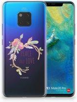 Huawei Mate 20 Pro Uniek TPU Hoesje Boho Text