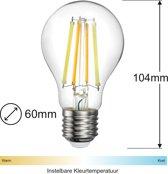 Zigbee Filament LED lamp   60mm   Instelbaar 2700K tot 6500K   Vervangt 60W gloeilamp   Grote fitting E27   compatible met Philips Hue en IKEA Home smart*