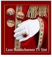 Handschoenen Luxe TV Sint 100% katoen mt XS