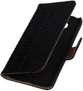 Zwart Slang booktype cover hoesje voor LG G5
