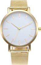 Vintage Mesh Horloge - Staal - Goud