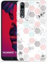 Huawei P20 Pro Hoesje Marmer Honeycomb