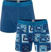 Muchachomalo Turtle Heren boxershort - 2 pack - Print/Blauw - Maat S