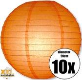 10 oranje lampionnen met een diameter van 20cm