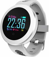 SmartWatch-Trends SW8 Pro met Hartslagmeter - Stappenteller - Caloriemeter - Bericht notificaties Whatsapp enz. - Android / IOS - Rond - Wit