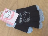 Hello Kitty - handschoenen - zwart - grijs - glitter - meisjes  - 10 x 15 cm