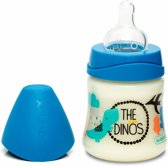 Babyfles Dark Blue Dino (in 3 formaten)