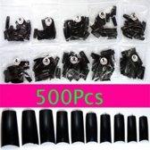 500 Nagel Tips Zwart