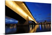 Athlone-brug over de Umgeni-rivier in Durban Aluminium 120x80 cm - Foto print op Aluminium (metaal wanddecoratie)