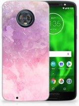 Motorola Moto G6 TPU Hoesje Design Pink Purple Paint